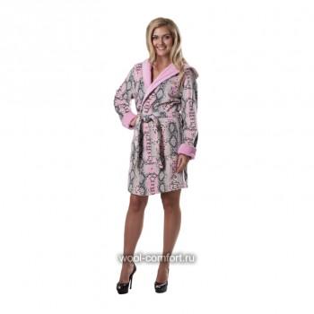 Стильный женский халат из натурального хлопка