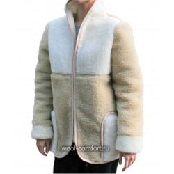 Куртка-жилет жен.овечья шерсть