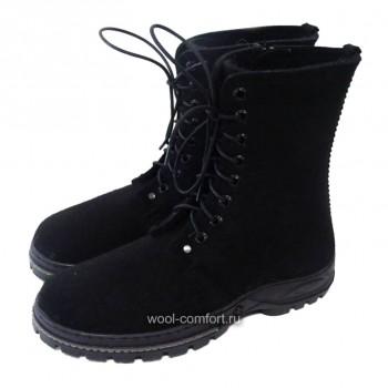 Войлочные ботинки мужские черные