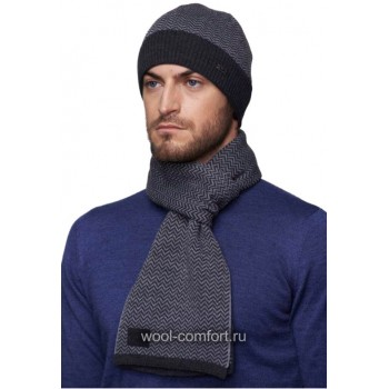 Комплект с шарфом с волнами
