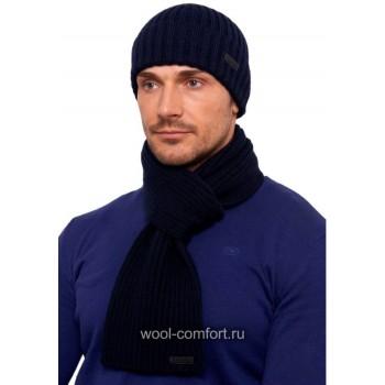 Комплект с шарфом синий