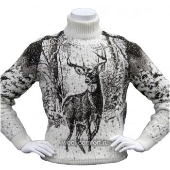 Свитер мужской из шерсти ламы